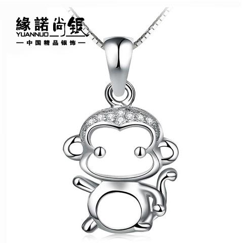 银925萌猴吊坠